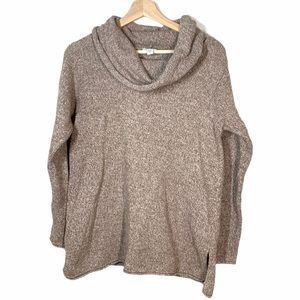 Pure Jill Cowl neck Light Brown Sweater - size S